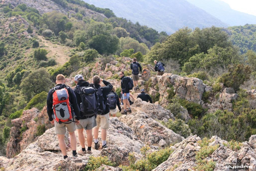 Vandretur på Korsika i forbindelse med en firmrejse