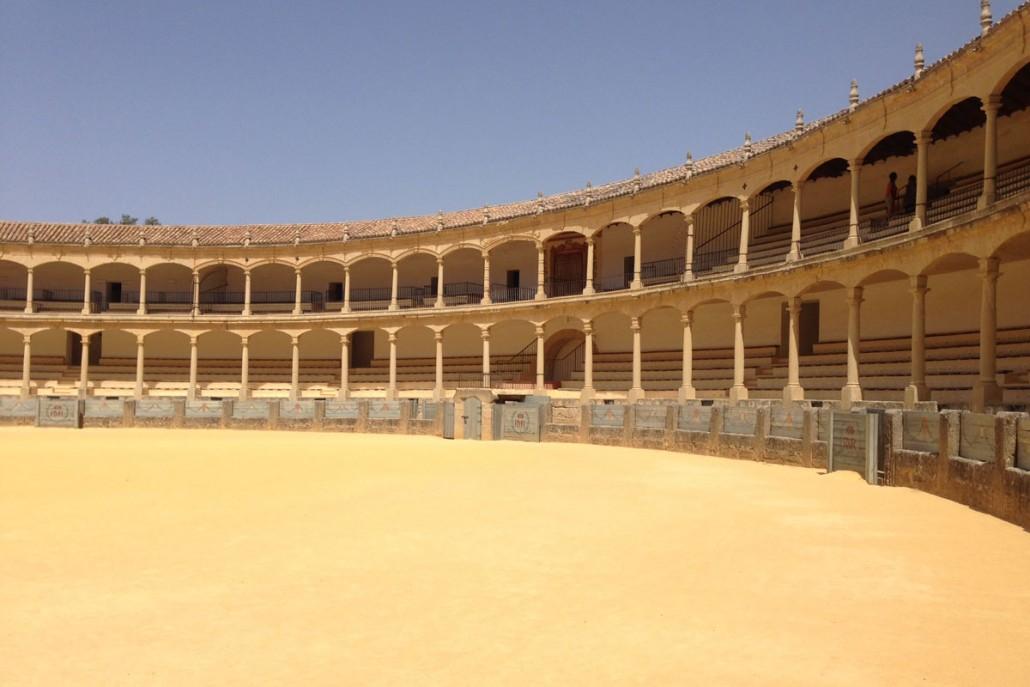 Tyrefægter arena i Spanien